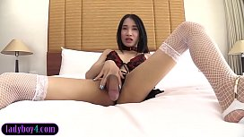 Young ladyboy with a...