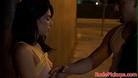 Petite teen pulled and...