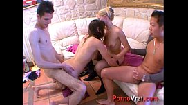 Amateur french orgy...