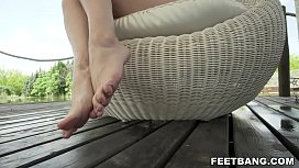 Foot fetish and anal...