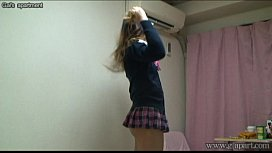 Japanese schoolgirl take off...