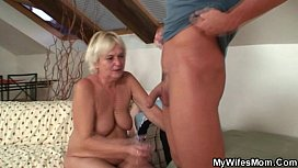 Horny granny lures her son-in-law xnxx image