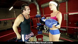 TheRealWorkout - Horny Brunette Fucked...