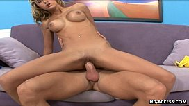Dude cums on her...