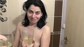 Sexymandy own piss drinking