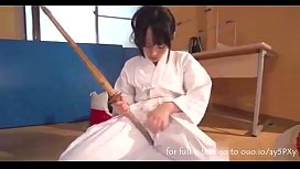 Horny Teenage Swordswoman Masturbates in the Dojo - Asian Sex Livecam Hot