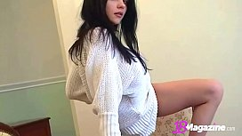 Smoking Hot Brunette Katie Fey Teases In Sweater &amp_ Thong!