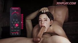 VideoGame Sluts with Huge Natural Tits Gets a Big Cock in Their a Little Anal
