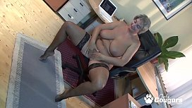 Horny Granny Lets A Young Man Fuck Her Huge Saggy Tits