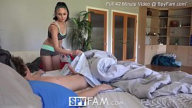 SpyFam Step sister Ariana Marie fucked after parent