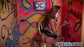 Spizoo - Chloe Amour  suck and fuck a big fat cock, Glory hole, big boobs &amp_ bubble butt