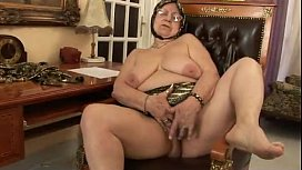Old woman strips and...