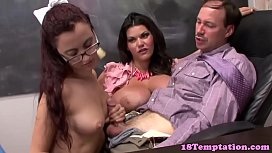 Hot teen and stepmom...