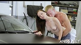 Porn sister forced brother to lick her pussy