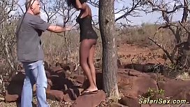 Busty african babe gets...