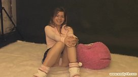 Tempting teen in pink...