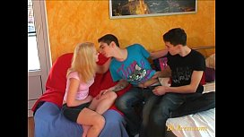 Young bisexual teen passion...