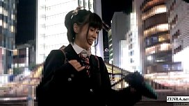Japanese schoolgirl boards train for real chikan experience