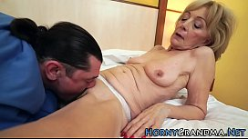Granny banged with dong