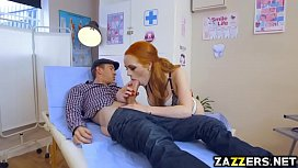 Dentist Ella Hughes spread her red bush for Danny D