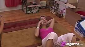 Tiny Andi Pink Gets Naughty On The Phone!