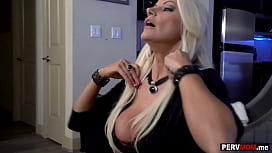 Lapdance from my big boobs stepmom because she needed money