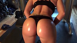 Fitness babe gets a...
