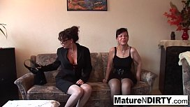 Brunette grannies fuck with...