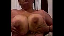 Mature Big Tits Amateur Plays with her massive jugs