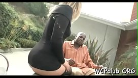 Slutty white angel with fine figure is nailed by gangsta