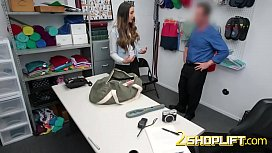 Rough sex in doggystyle for a petite latina teen thief!