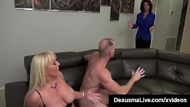 Busty Mothers Deauxma &amp_ Alexis Golden - Interracial Foursome