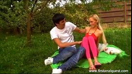 FirstAnalQuest.com - YOUNG ANAL SEX OUTDOORS WITH A GORGEOUS SKINNY TEEN xxx video