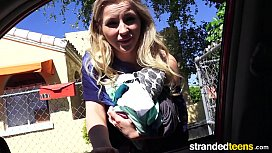 StrandedTeens - Sexy blond gives...