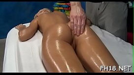 Gorgeous chick gets a hard fuck after a carnal massage