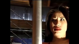 Pretty Asian whore gets double penetrated after a pole dance