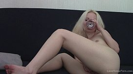 Teen blonde fingering and...