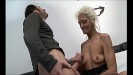French GILF gets anal...