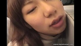 Sweet Asian chick getting...