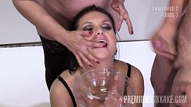 PremiumBukkake - Barbara Bieber swallows...