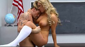 Sexy student rides her prof