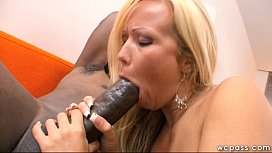 Blonde MILF Loves Big Black Cock