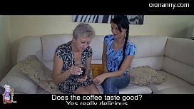 Young brings granny coffee and sex