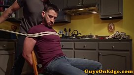 Cumcontrolled bound gay gets...