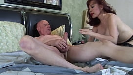 Insatiable milf sucks and...