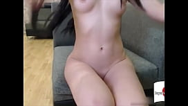 Sexy Young Japanese Girl Masturbates with Dildo on Cam