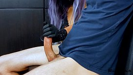 MissFluo - A115 Pandemic Edging Handjob from Italy