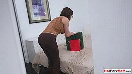 My classy MILF stepmother surprised me with a blowjob