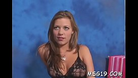 Tattooed girl groans with excitement