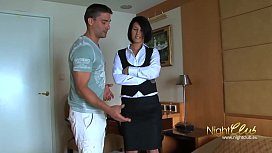 Tricking room maid into...
